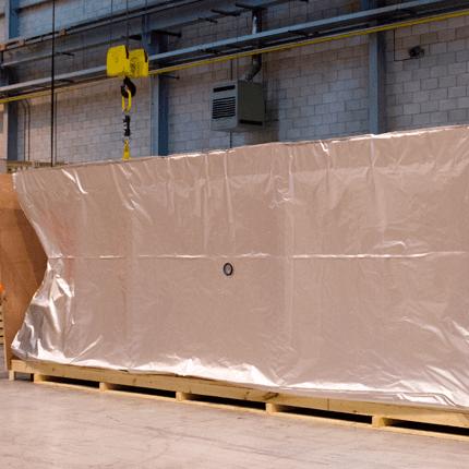 Image of Machinery Inside Aluminium Barrier Bag